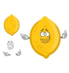 Colorful yellow cartoon lemon fruit vector