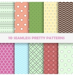 Color seamless patterns vector