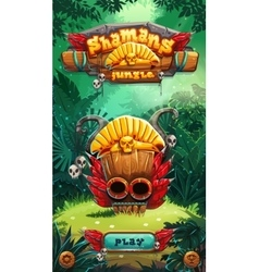 Jungle shamans mobile gui play window vector
