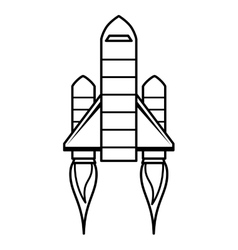 Rocket launch isolated icon design vector