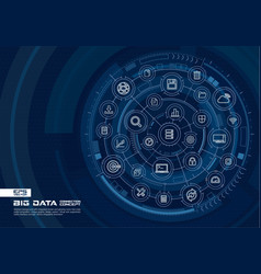Abstract big data background digital connect vector