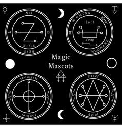 Astrological talismans set vector