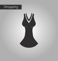 black and white style icon dress vector image