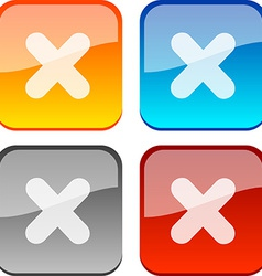Cancel buttons vector image vector image