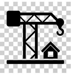 Construction crane icon vector