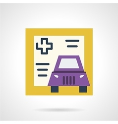 Driver life insurance icon vector