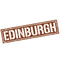 Edinburgh brown square stamp vector