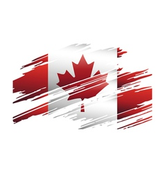 Flag Canada in the form traces brush vector image vector image