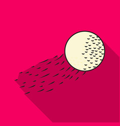 Flying golf ball icon in flat style isolated on vector