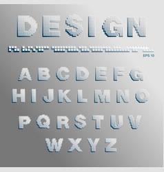 Font pixels vector