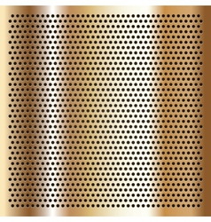Gold background perforated sheet vector image vector image