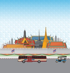Grand palace bangkok vector
