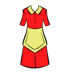 housewife dress icon icon cartoon vector image