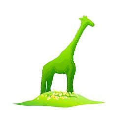 icon giraffe shape plant vector image