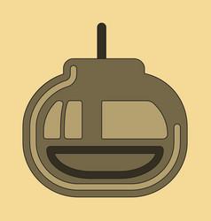 icon in flat design cabin ski lift vector image