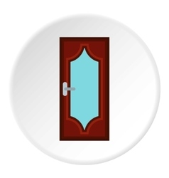 Kitchen door icon flat style vector image vector image
