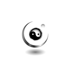Logo concept with yin and yang symbol vector image