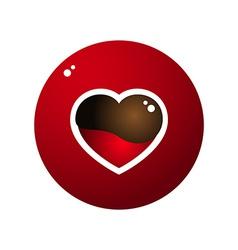 Love Heart Melt Chocolate Circle Design vector image