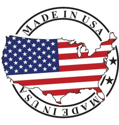 made in usa stamp vector image vector image