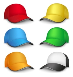 multicolored caps vector image