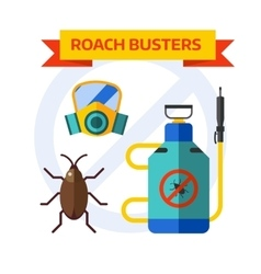 Pest control worker spraying pesticides home vector image vector image