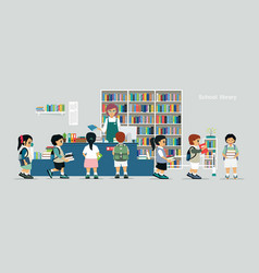school library vector image vector image