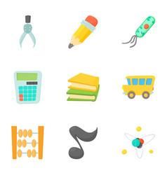 schoolhouse icons set cartoon style vector image vector image