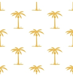 Seamless pattern with tropic palm vector image vector image