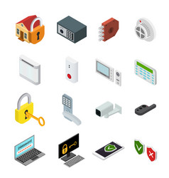 security color icons set vector image vector image