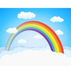 Sky with rainbow vector