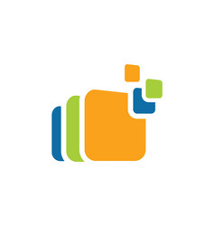 square data logo vector image