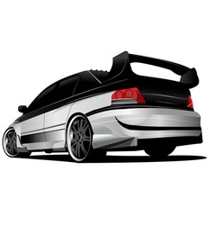 Street racer car vector