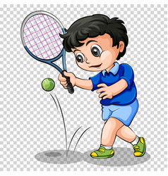 Tennis player on transparent background vector