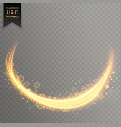 transparent light streal golden effect background vector image vector image