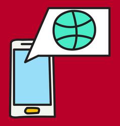 Unusual look dribbble social media icon social vector