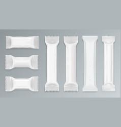 white chocolate bar polyethylene package vector image vector image