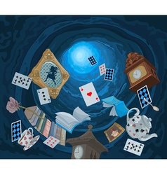 Wonderland Rabbit Hole vector image vector image