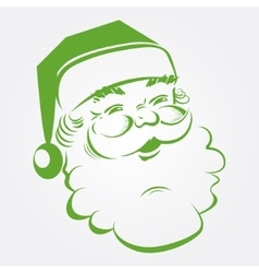 Outlines of santa claus vector