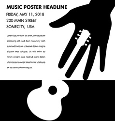 Unusual guitar poster vector