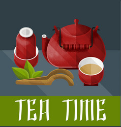 Chinese tea ceremony concept vector