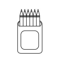 Pencil colors icon vector