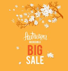 Autumn yellow sale image vector