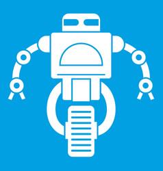 Machine robot icon white vector