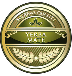 Yerba mate product icon vector