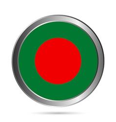 Bangladesh flag button vector image
