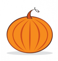 Orange pumpkin with grey shadow vector