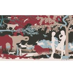 Garden of Eden vector image