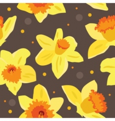 Seamless floral pattern with daffodils vector