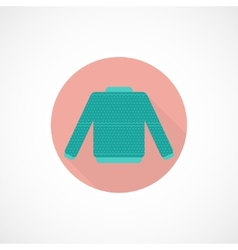 Sweater icon in flat style vector