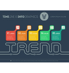 Chart or time line of trends infographic timeline vector